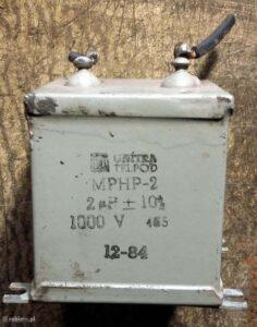 Jedyny sprawny kondensator olejowy MPHP-2